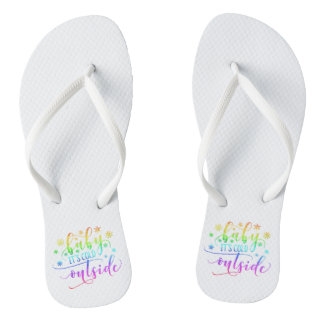 Colorful Baby It's Cold Outside | Flip Flops