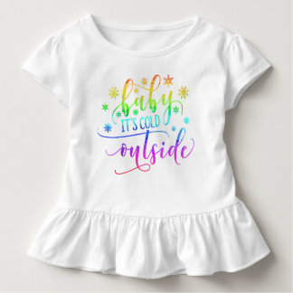 Colorful Baby It's Cold Outside | Ruffle Tee