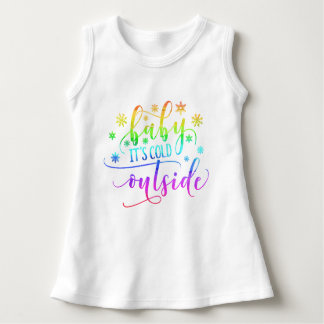 Colorful Baby It's Cold Outside   Sleeveless Dress