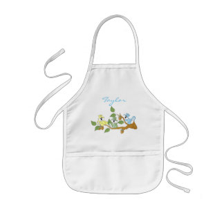 Colorful Baby Squirrels | Personalize Kids Apron
