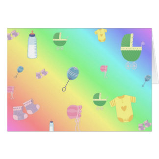 Colorful Baby Toys Card