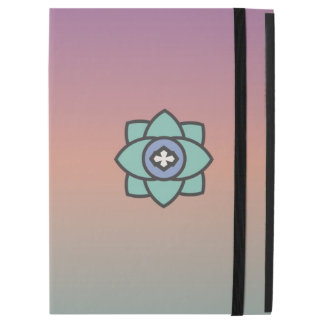 "Colorful background with a flower icon iPad pro 12.9"" case"
