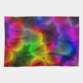 Colorful bacteria kitchen towel