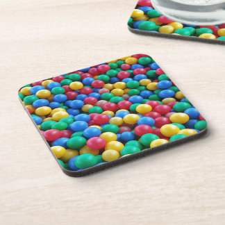 Colorful Ball Pit Balls Kids Play Beverage Coasters