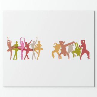 Colorful Ballerinas and Hip Hop Dancers Wrapping Paper