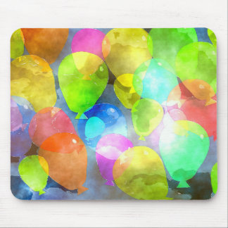 Colorful balloon mouse pad