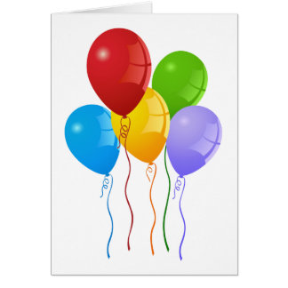 Colorful balloons card