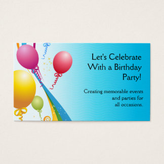 Colorful Balloons | Curly Ribbons Business Card