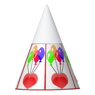 Colorful balloons Designed in party hat