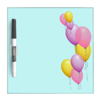Colorful Balloons Dry Erase Board