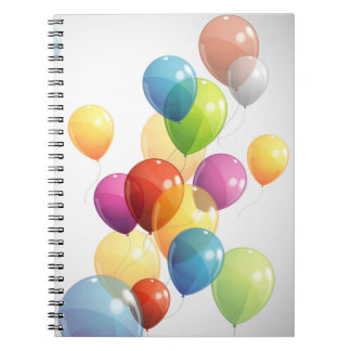 Colorful Balloons Notebook