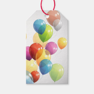 Colorful Balloons Pack Of Gift Tags