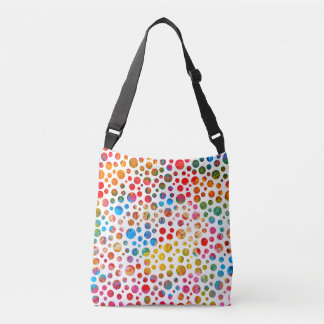 Colorful Balls Jolly Pattern. Polka Dots Design Crossbody Bag
