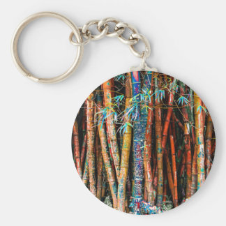 Colorful Bamboo Forest Keychain