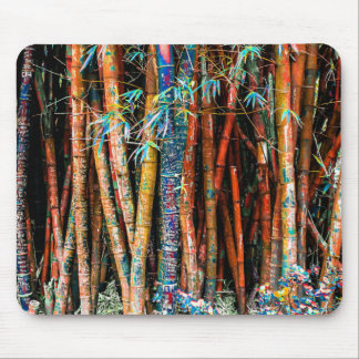 Colorful Bamboo Forest Mouse Pad