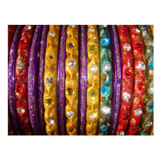 Colorful Bangles Postcard