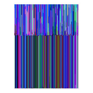 """Colorful """"barcode"""" , made from blue stripes postcard"""