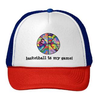 Colorful Basketball Baseball Cap Trucker Hat