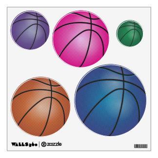 Colorful Basketballs Wall Decal