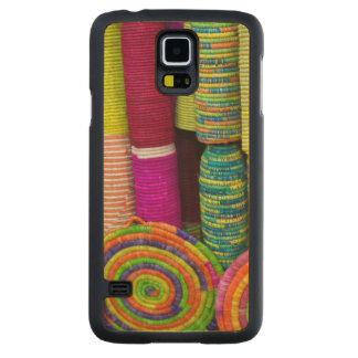 Colorful Baskets At Market Carved Maple Galaxy S5 Case