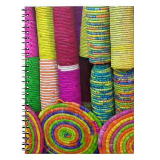 Colorful Baskets At Market Notebooks