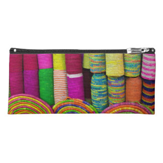 Colorful Baskets At Market Pencil Case
