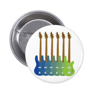 Colorful Bass Guitars 2 Inch Round Button