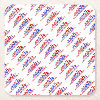 Colorful Bastille Day Design Square Paper Coaster