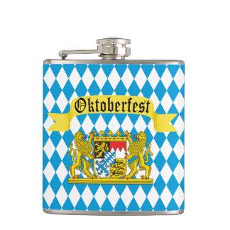 Colorful Bavarian Flag Oktoberfest Flasks