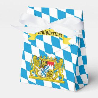Colorful Bavarian Flag Oktoberfest Party Favor Box