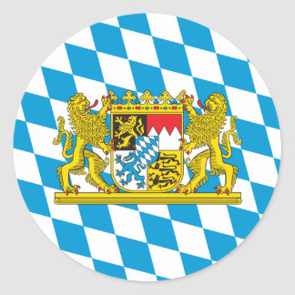 Colorful Bavarian Flag Round Sticker