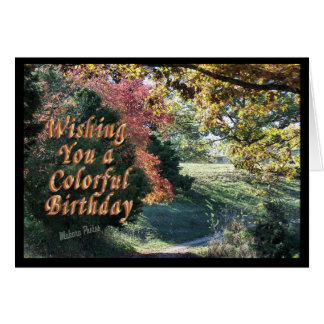 Colorful Bday Card-customize it Greeting Card