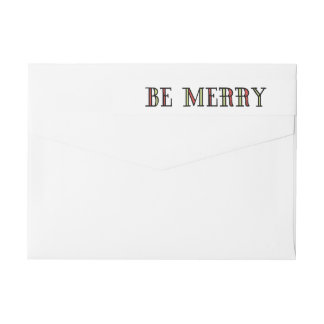 Colorful Be Merry Holiday Labels Wraparound Return Address Label