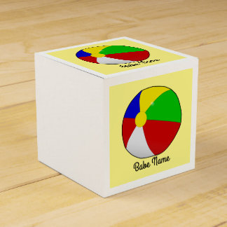 Colorful beach ball favor box