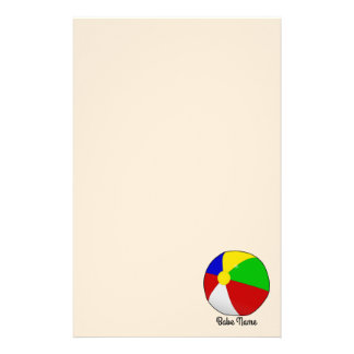 Colorful beach ball stationery