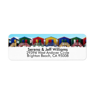 Colorful Beach House Huts