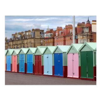 Colorful Beach Huts, Brighton and Hove Beach Postcard