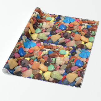 Colorful Beach Pebbles Gift Wrap