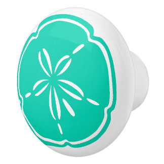 Colorful Beach Shell Sand Dollar Drawer Knobs