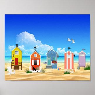 Colorful Beach Summer Fun Poster