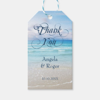 Colorful Beach Wedding Favor Thank You Gift Tag