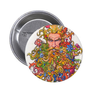 Colorful Beard Guy 2 Inch Round Button
