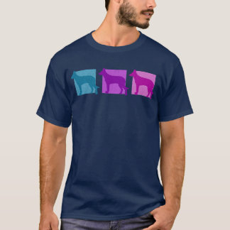 Colorful Beauceron Silhouettes T-Shirt
