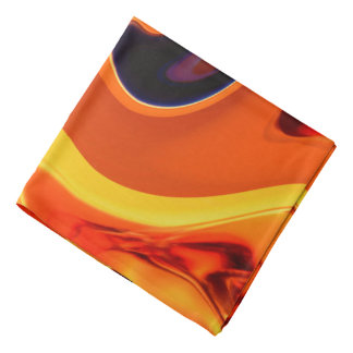Colorful Beautiful Abstract Art Gold Swirl Do-rags