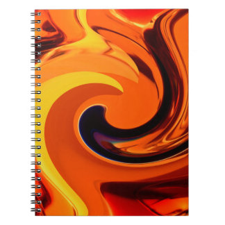 Colorful Beautiful Abstract Art Gold Swirl Notebook
