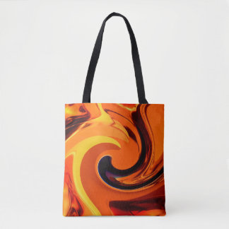 Colorful Beautiful Abstract Art Gold Swirl Tote Bag