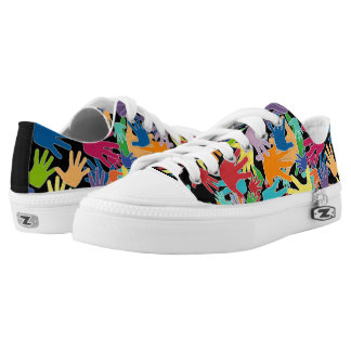 Colorful beautiful cartoon hands all over Low-Top sneakers