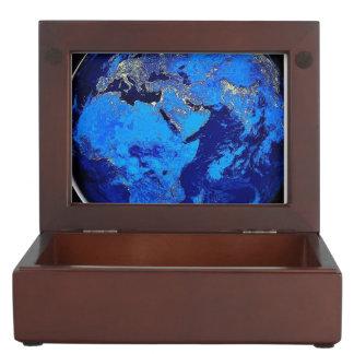 Colorful Beautiful Earth Keepsake Box