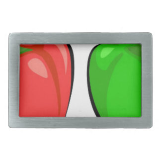 Colorful Bell Peppers Belt Buckles