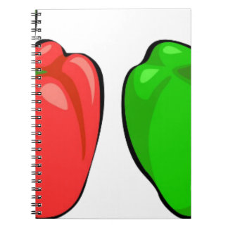 Colorful Bell Peppers Notebook